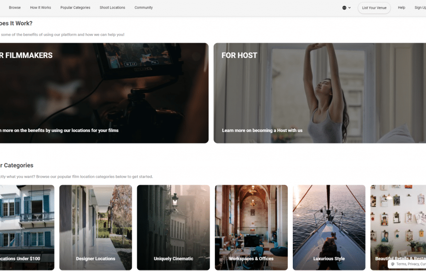 Earn Extra Cash with AirBnB-like Platform Filmplace